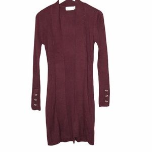 NEW Stitch Fix RD Style Wine Long Cardigan sweater